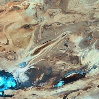 Dasht-e Kavirin autiomaa satelliittikuvassa