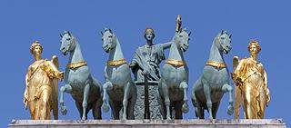 La Paix conduite sur un char de triomphe (François-Joseph Bosio)