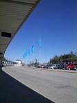 Rovaniemen lentoaseman piha