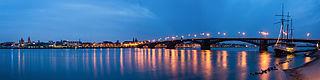 Mainz ja Theodor-Heuss-silta (panoraama)