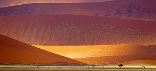 Hiekkadyynejä Namib-Naukluftin kansallispuistossa, Namibiassa.