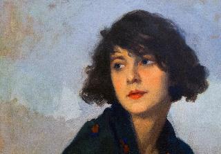 Cyprien Boulet: Mulher do xale verde (yksityiskohta)