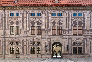 Trompe l'œil -maalaus (Kaiserhof, München, Saksa)