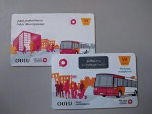 Vanha (alla) ja uusi (päällä) Waltti-kortti